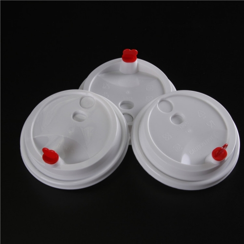 High Quality Transparent plastic red heart arch cup lid