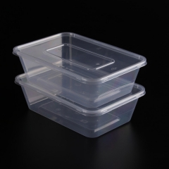 disposable plastic takeaway bento box pp plastic takeaway rectangular food storage container with lid