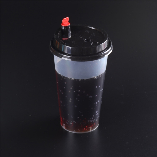 Disposable pp plastic clamshell,boba tea cup with lids,injection plastic cup lid