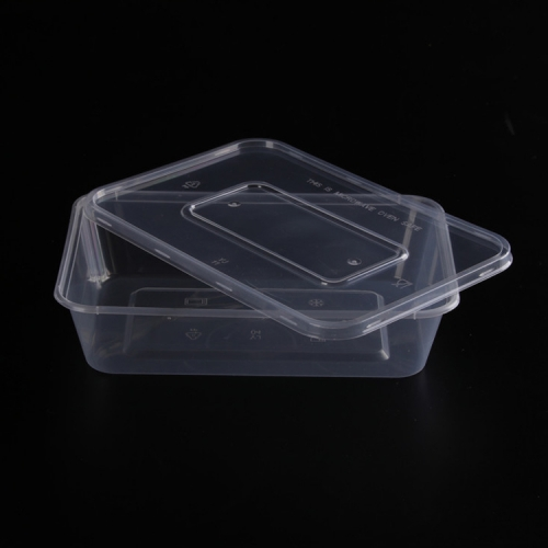 High Quality clear rectangular plastic storage box with dividers