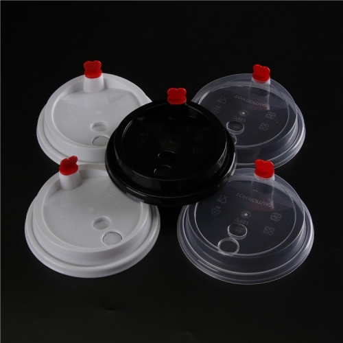 Custom Disposable Universal PP Plastic Coffee Cup Lid with Plug
