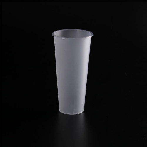 Disposable High Transparent Plastic Milk Tea Cup U-shaped Beverage Drinking Fruit Juice Takeaway Packaging Cup with Lids