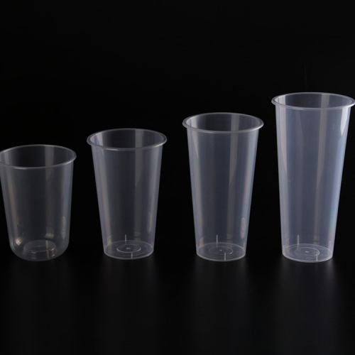 OEM disposable transparent packaging plastic PP injection cup milk tea cup