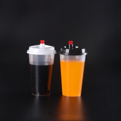 Disposable Pearl Milk Tea PP Cup Matt 12OZ 16OZ 22OZ 24OZ 90mm Top Plastic PP Cup with Lid for Milk Tea Juice