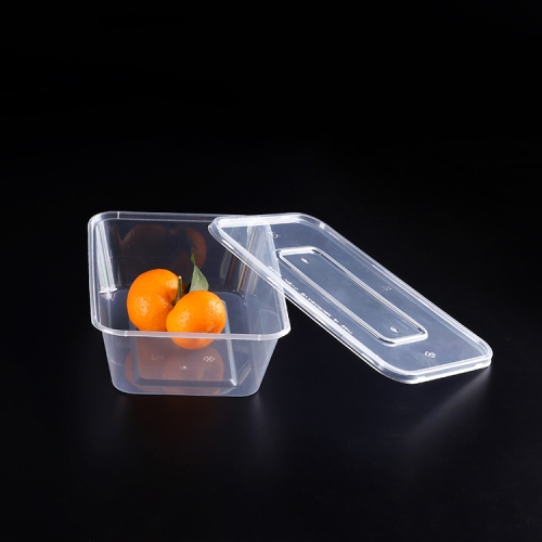 High Quality Rectangular plastic disposable microwave pp food container