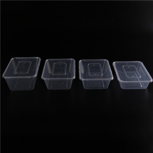 Compartments Rectangular Shape PP Plastic Food Container With Lock
