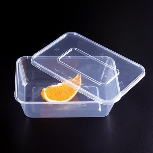 Rectangular Transparent Clear Plastic PET Food Container for Vegetable