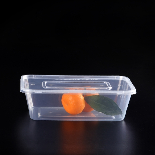 disposable microwave pp plastic food container rectangular