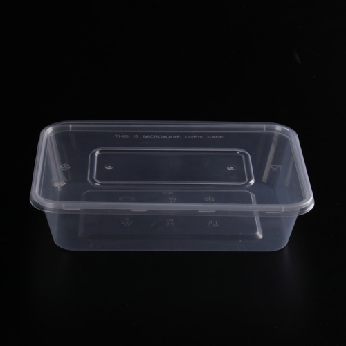 Plastic household microwave pp rectangular food container with lid