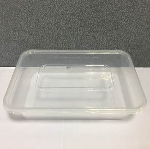 High borosilicate rectangular full compartment glass food container with MS/ TRITAN/ PP lid
