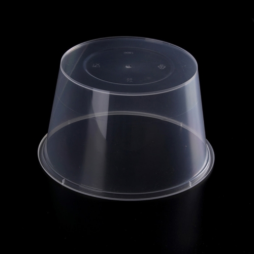 Manufacturer Eco Friendly Disposable Durable IML 310ML Custom Logo Print Clear Transparent Pp Plastic Soup Round Bowl with Lid