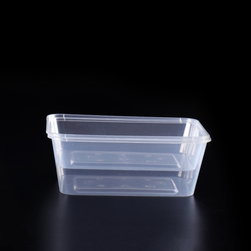 Packing use pp disposable plastic microwave rectangular food container 650ml
