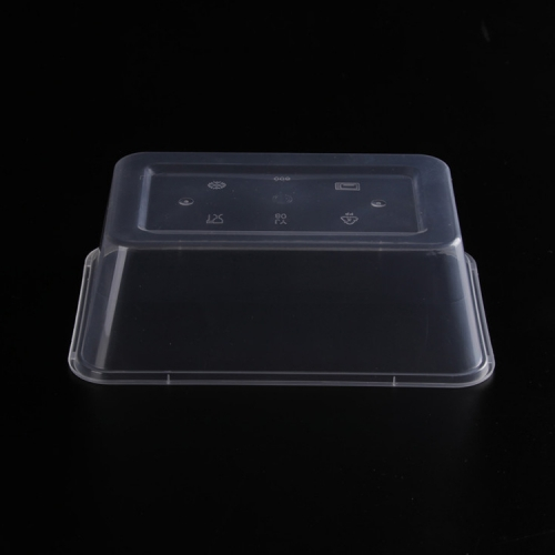 500 ml Disposable microwave clear pp plastic rectangular food container with lid